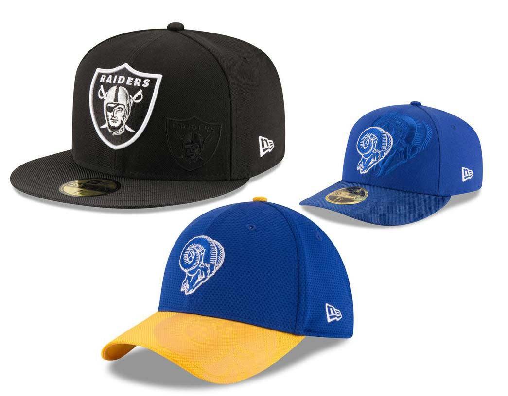 NFL Caps-Oakland Raiders and LA Rams 04b84de4785
