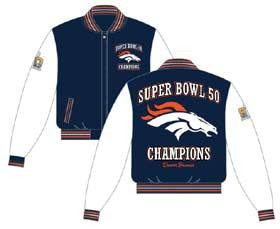Denver Broncos wool/leather jacket