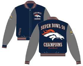 Denver Broncos wool/leather applique jacket
